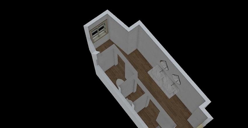 Zamek łazienka Interior Design Render