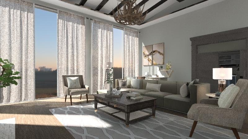 2 Story Elevation Interior Design Render