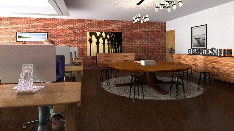 Graphics room  Interior Design Render