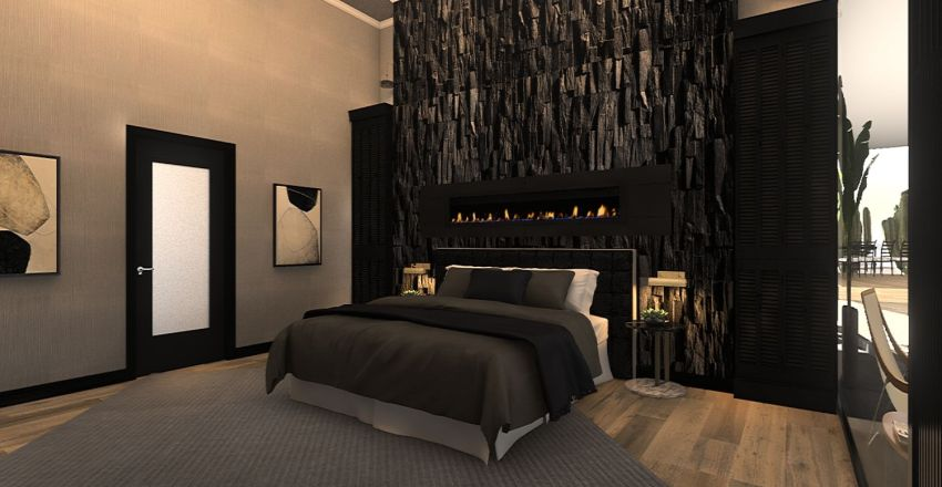 Desert House  Interior Design Render