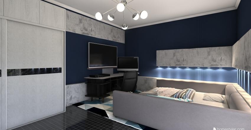 3 Bedroom apartment Interior Design Render