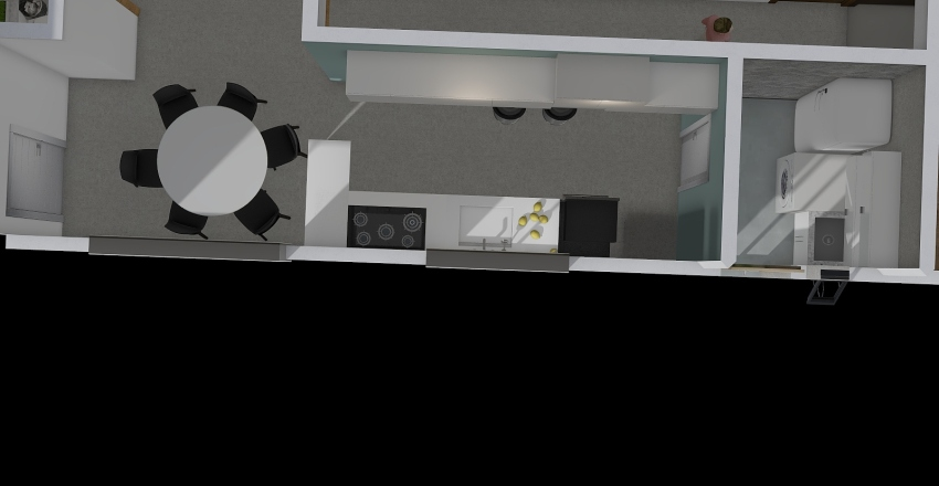 sala da jantar mesaredonda Interior Design Render