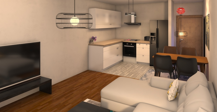 dnevna final Interior Design Render