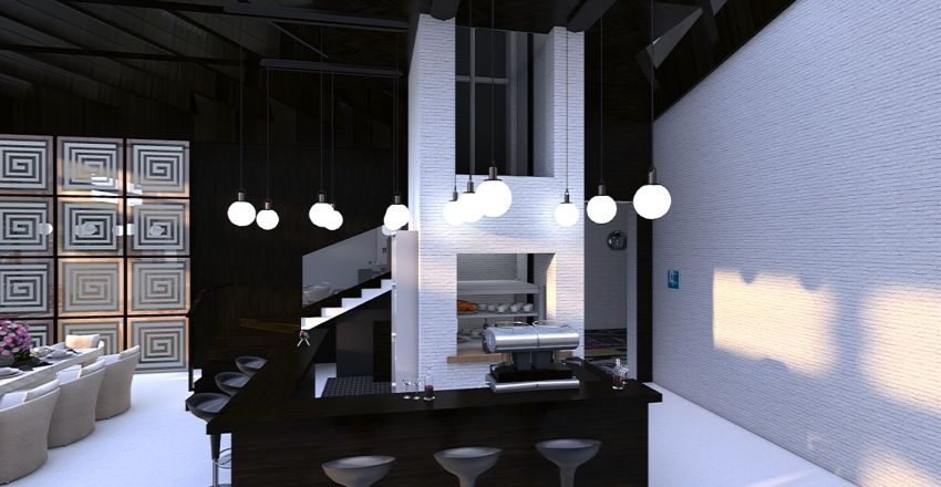 Club On the Roof (finished version) Interior Design Render