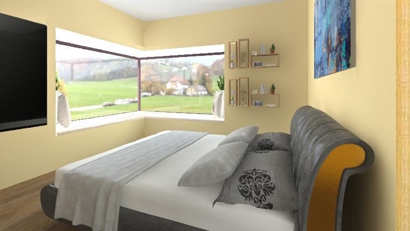 Quarto Suite  e Closet Interior Design Render
