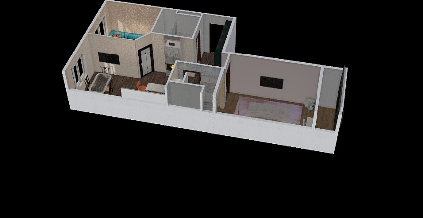Olga apt 2 Interior Design Render