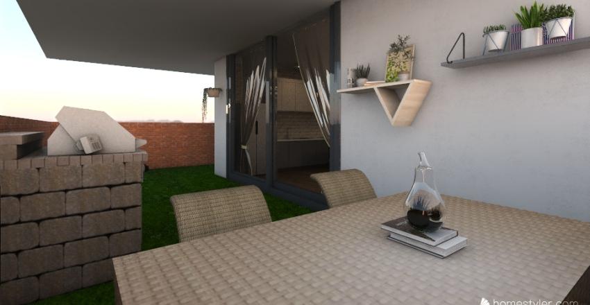 bajo con jardin Interior Design Render
