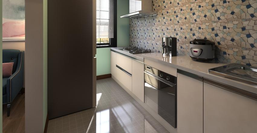 Contemp. Tiny Home Interior Design Render