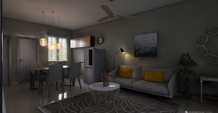 Flori's Ground Floor Interior Design Render