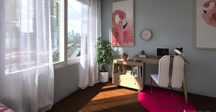 UNA CASA SENCILLA PERO COMODA Interior Design Render