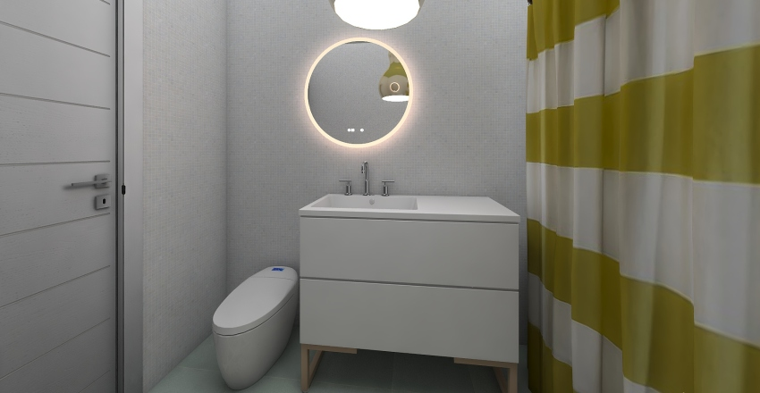 Single Room 2 Interior Design Render
