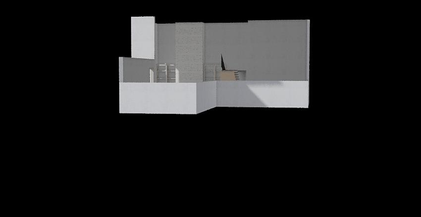 BUROKER fam room tall fireplace Interior Design Render