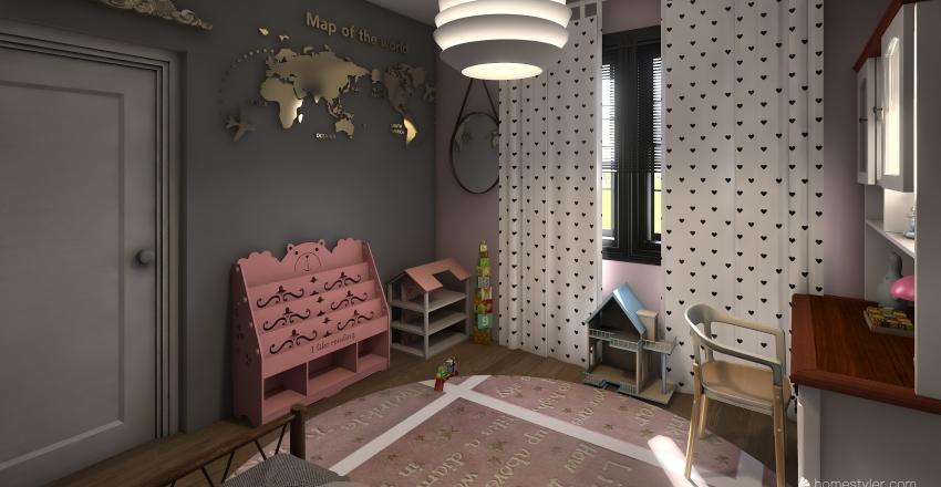 my house of dreams second floor Interior Design Render