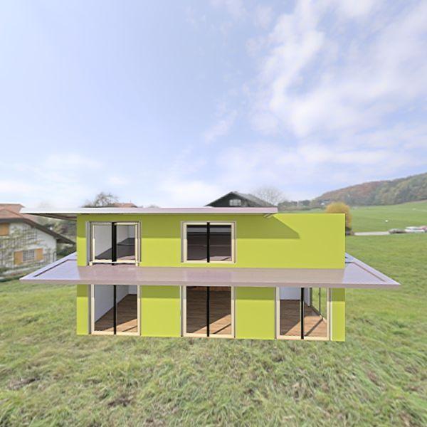 más tető Interior Design Render