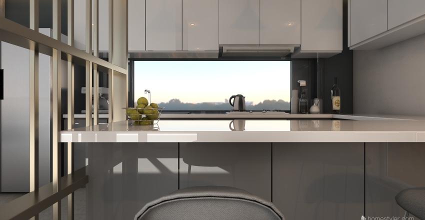 Brutal Grey Interior Design Render