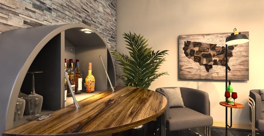 huge condo Interior Design Render