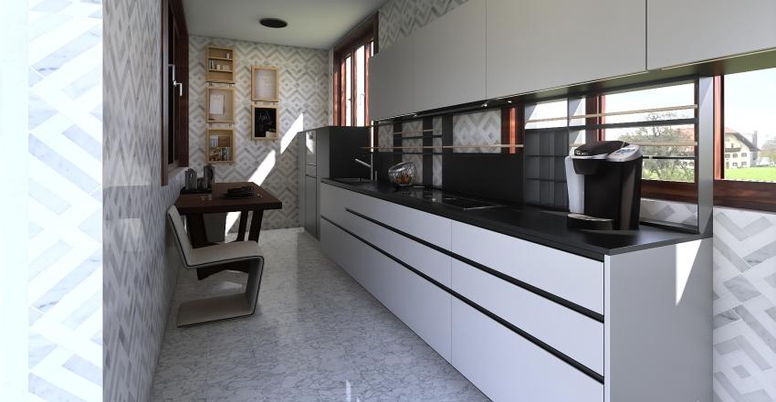 oshxona Interior Design Render