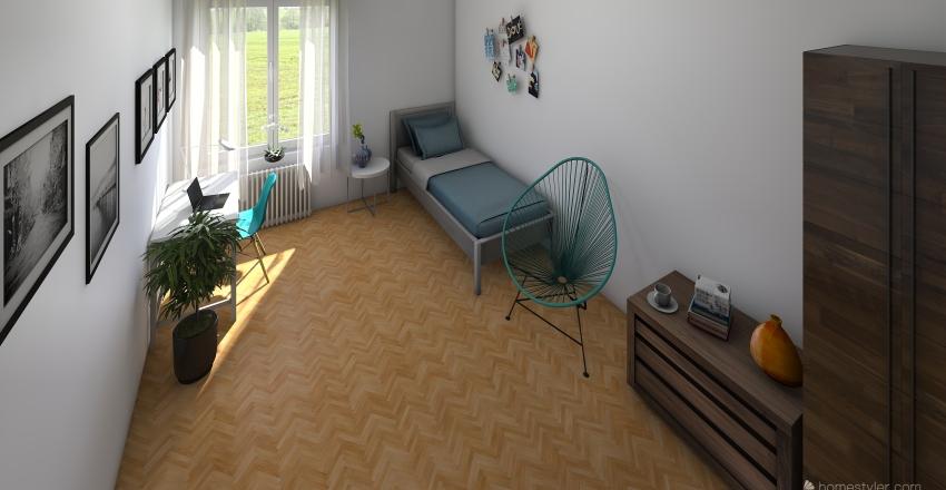 Zadní pokoj Interior Design Render