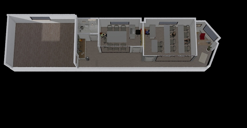 ACADEMIA PONTEAREAS Interior Design Render