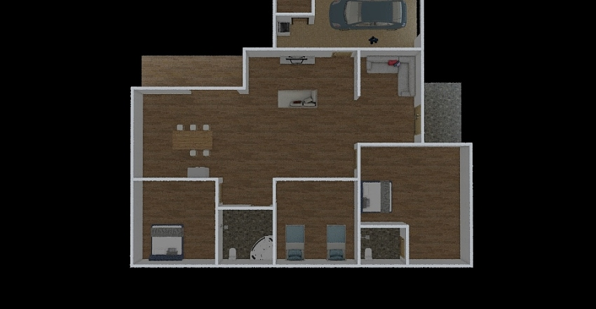 Design_rumah_pky Interior Design Render