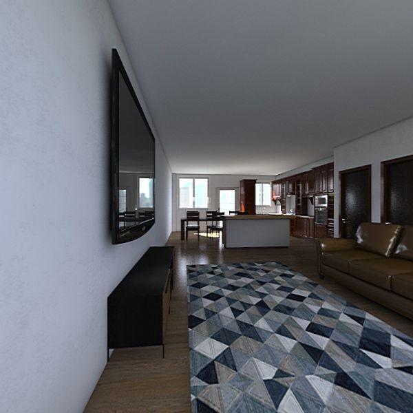 K+T Living turned island Interior Design Render