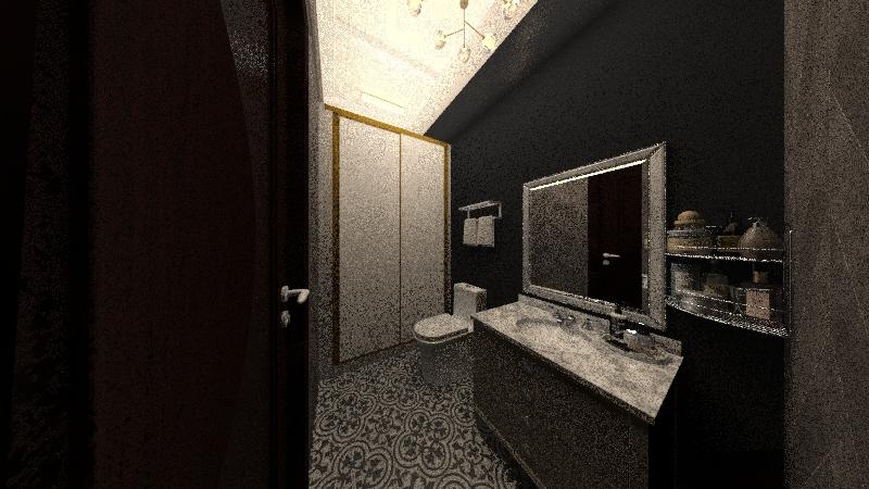 Modern Minimalist Loft Interior Design Render