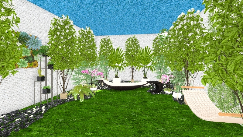 ogród na statku kosmicznym Interior Design Render