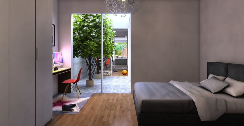 Accurate_one_courtyard_240120_trees Interior Design Render
