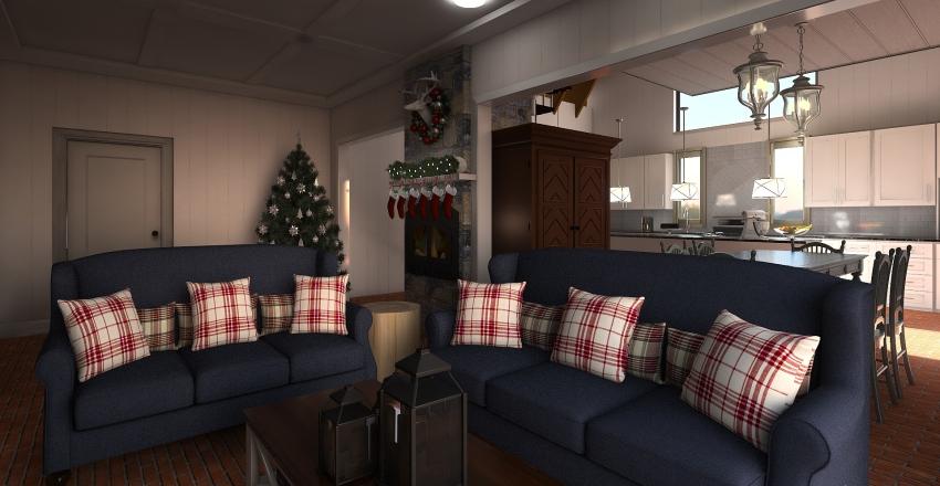 Cozy Cabin Renovation Interior Design Render