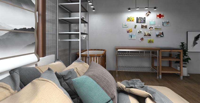 New Baby Scandinavian Studio Interior Design Render