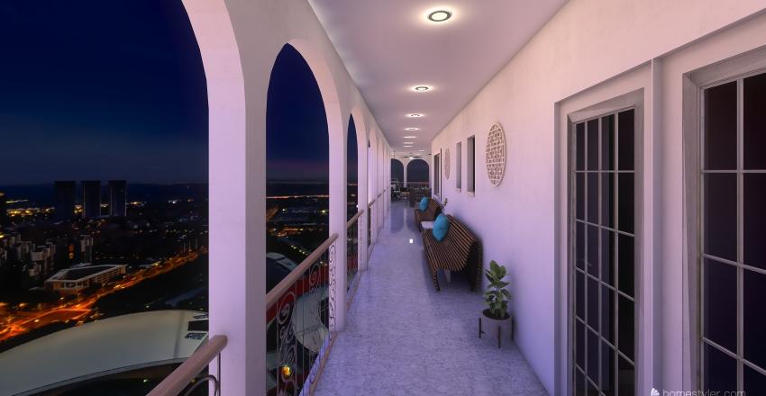 Upstairs Patio @ The Lake House Interior Design Render