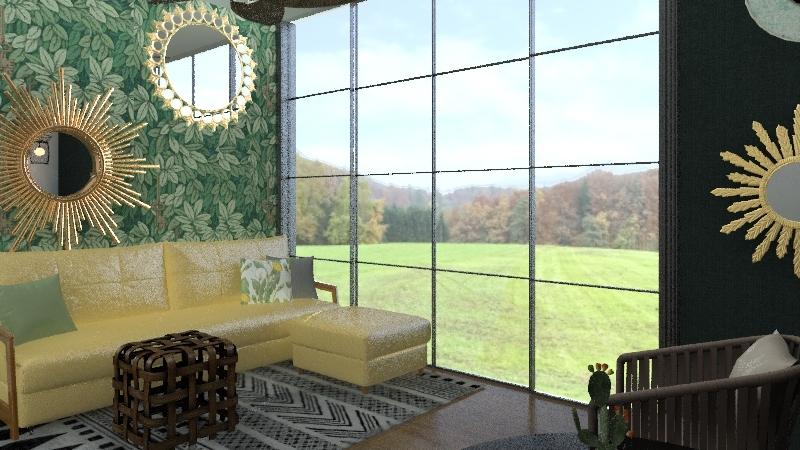 salon z jadalnia Interior Design Render