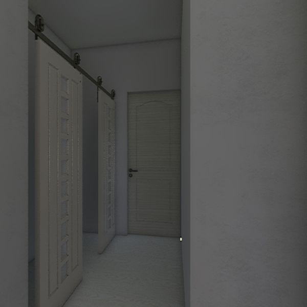 Living Room and Kitchen Interior Design Render