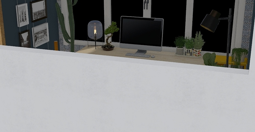 Cute office Interior Design Render