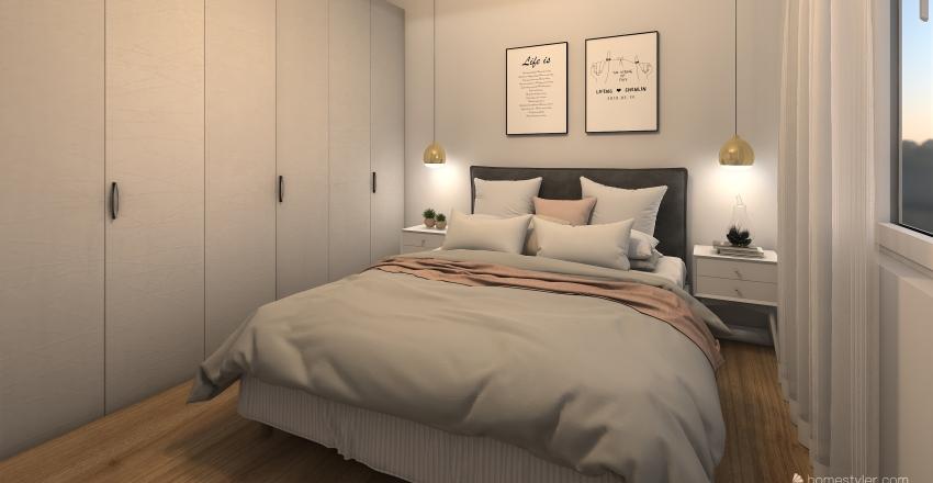 Quarto de casal Interior Design Render
