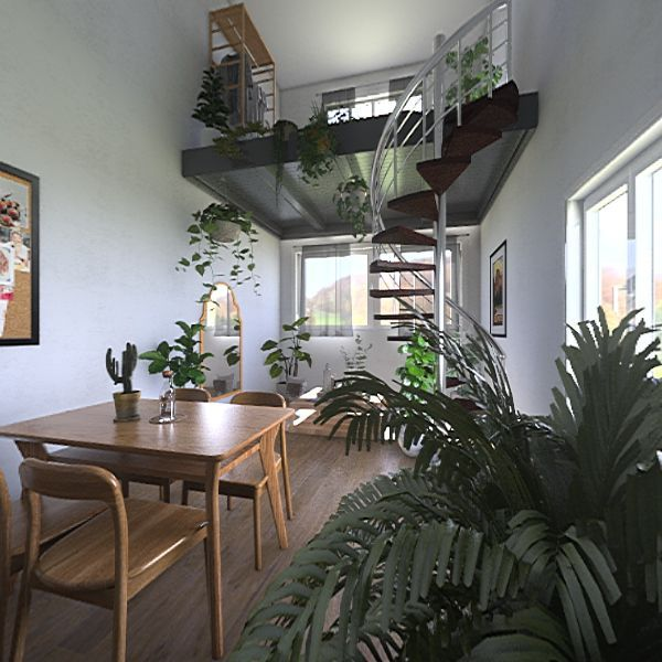 plant lover's home Interior Design Render