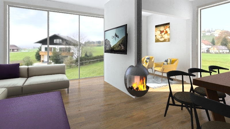 111,6 m2  hiša Interior Design Render