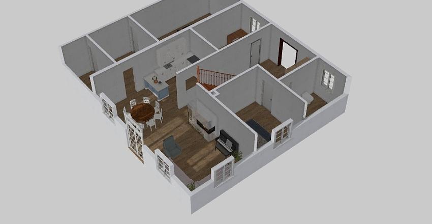 Holzhaus 5 Interior Design Render