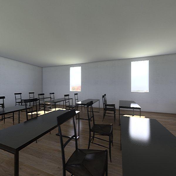Digital Classroom Interior Design Render