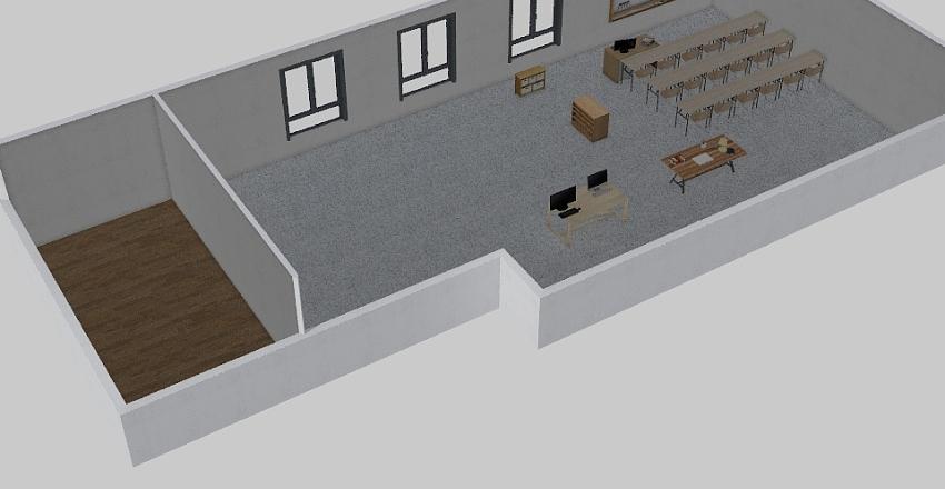 Aula-taller Interior Design Render