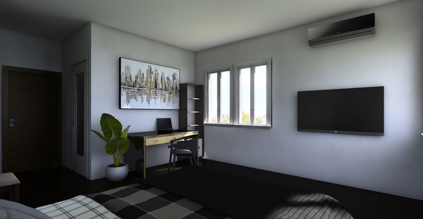 small house I  Interior Design Render