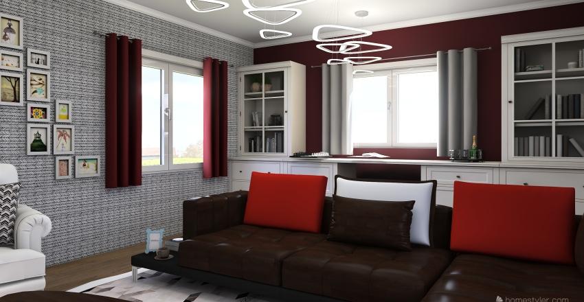contemporary liliving room Interior Design Render
