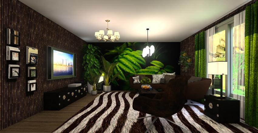 jungel inspired Interior Design Render