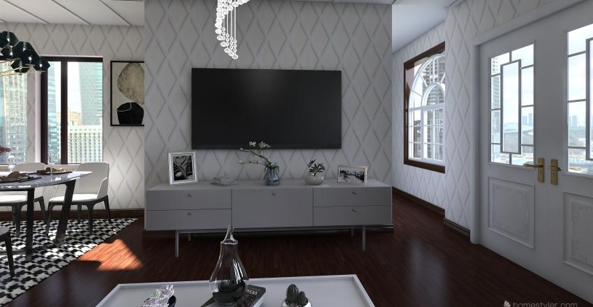 CASA ACOGEDORA DE UNA  HABITACION  Interior Design Render