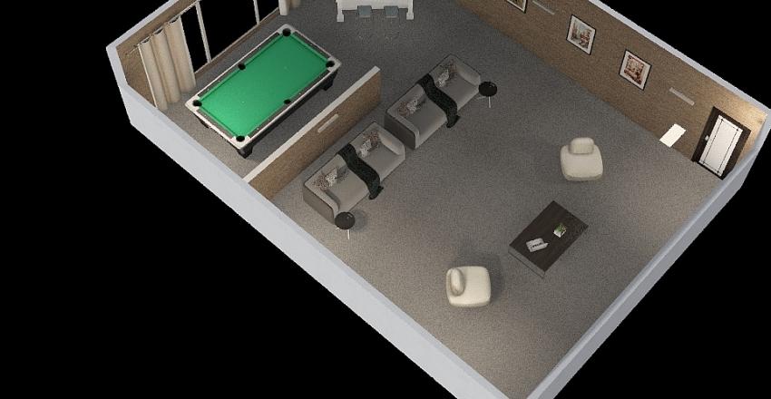 Furniture_Arrangement Interior Design Render