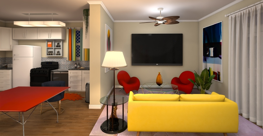 Away From Home Interior Design Render
