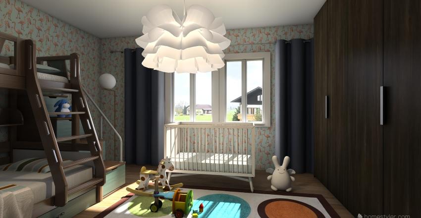 Dětský pokoj Interior Design Render