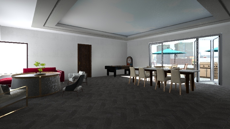 maison en construction Interior Design Render