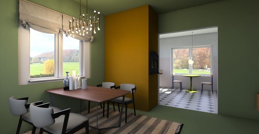 neo glam kitsch romanesc Interior Design Render