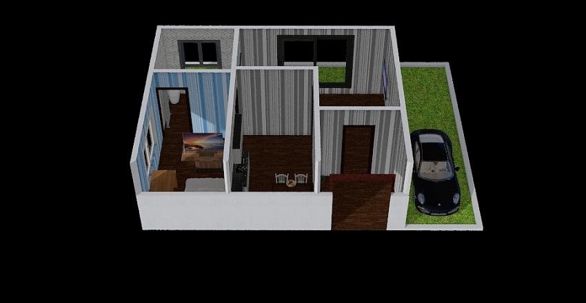Eco house design Interior Design Render